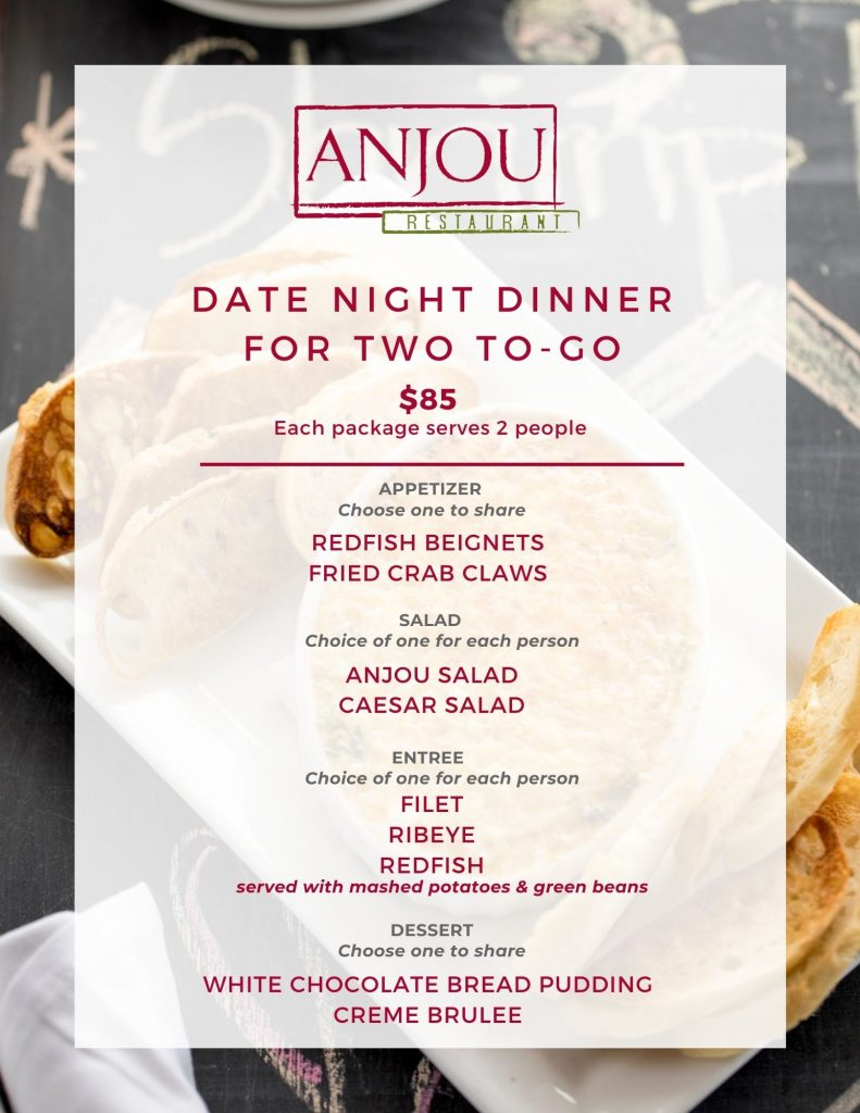 Anjou Date Night Menu